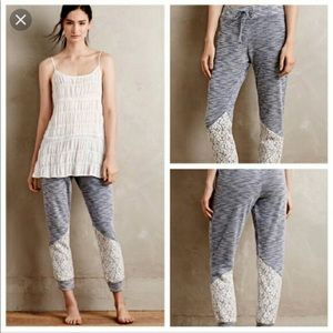 NWT Anthropologie Puella Lucie Joggers Lace Pants